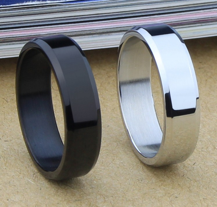 Мужское кольцо из титановой стали (124-111) - 1