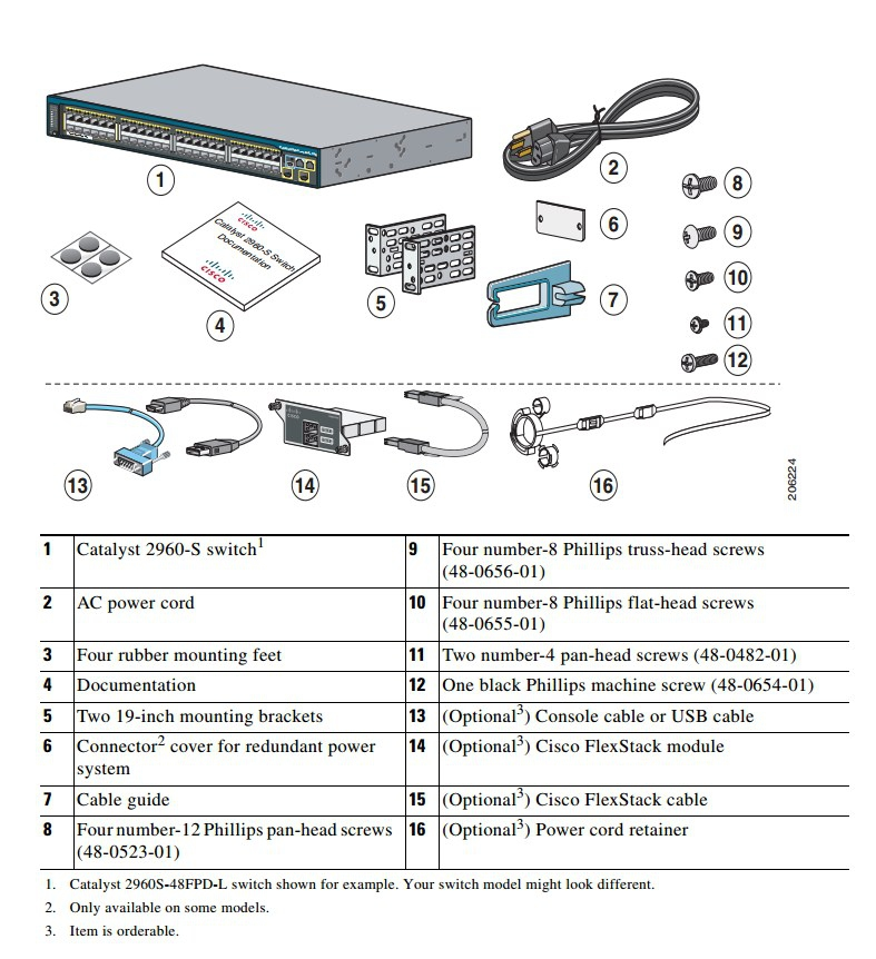 Коммутатор Cisco WS-C2960S-24TS-L (134-104) - 1