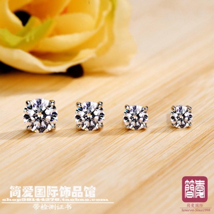Серьги с искусственными бриллиантами NSCD (124-100) - 6