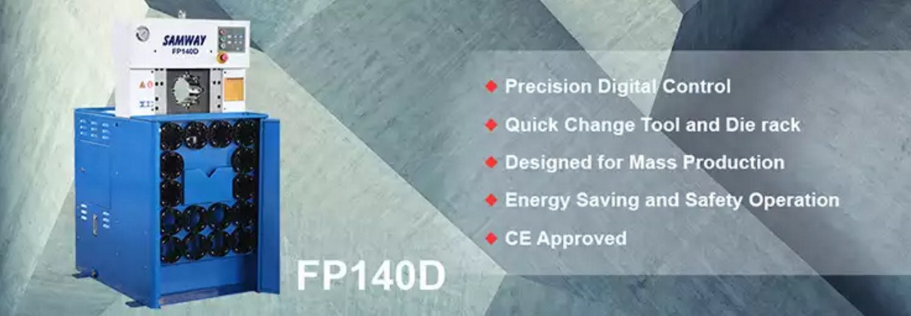 Обжимной станок РВД производственный - SAMWAY FP140D (108-163) - 1