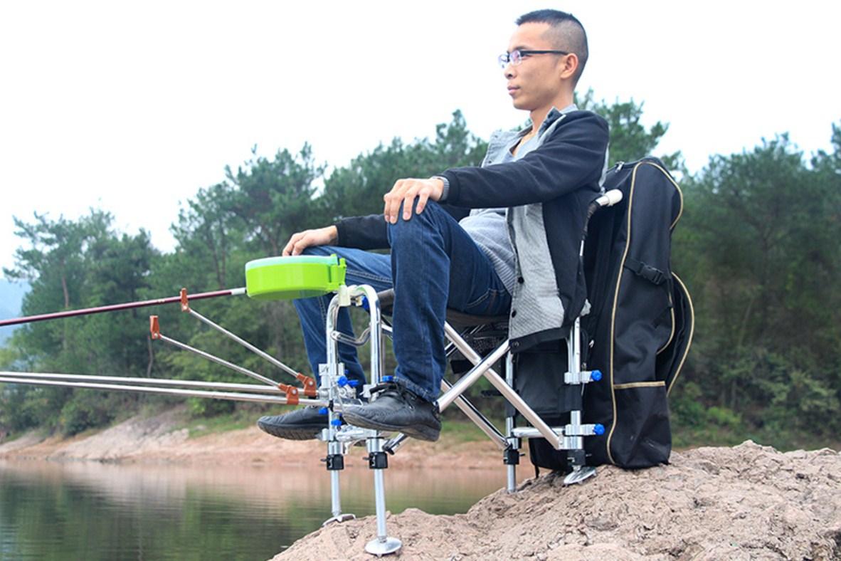 Многофункциональный портативный складной стул для рыбалки JILILAI (129-100) - 12