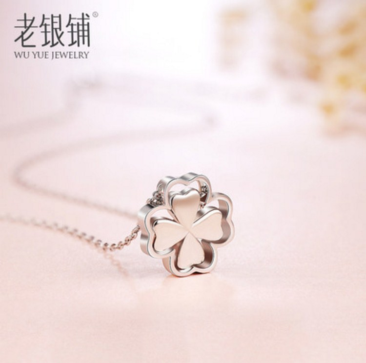 """Серебряная цепочка с кулоном """"Клевер"""" Wu Yue Clover (124-105) - 13"""