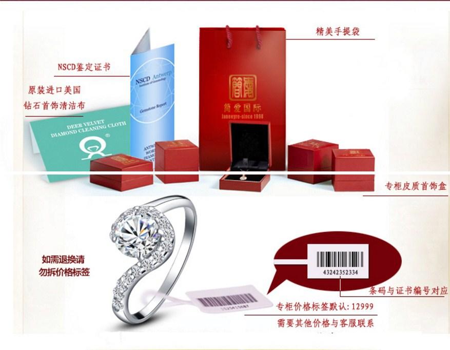 Серьги с искусственными бриллиантами NSCD (124-100) - 9