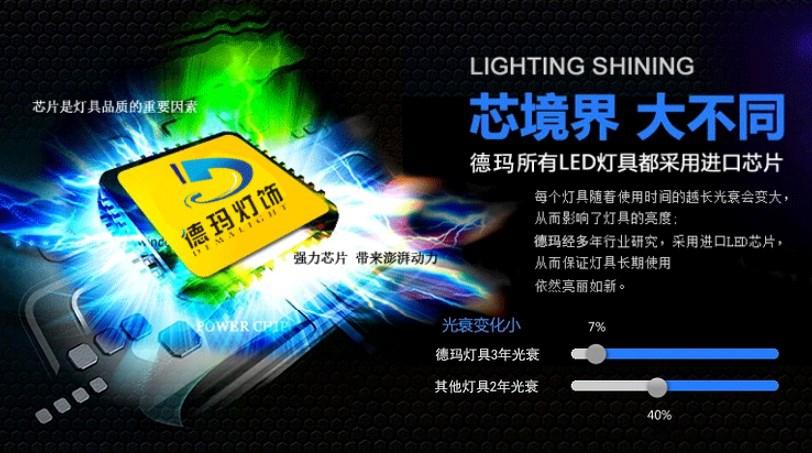 Светодиодный светильник LED Dema Light 6W-182W (115-103) - 3