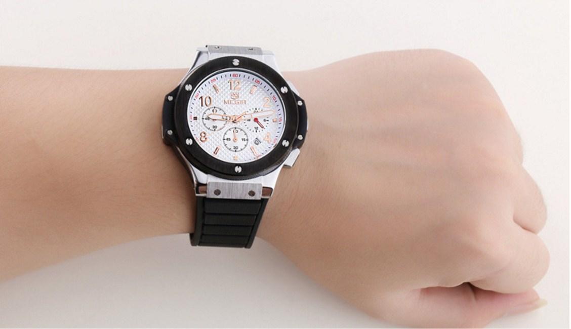Водонепроницаемые спортивные кварцевые часы MEGIR 3002G (123-105) - 2
