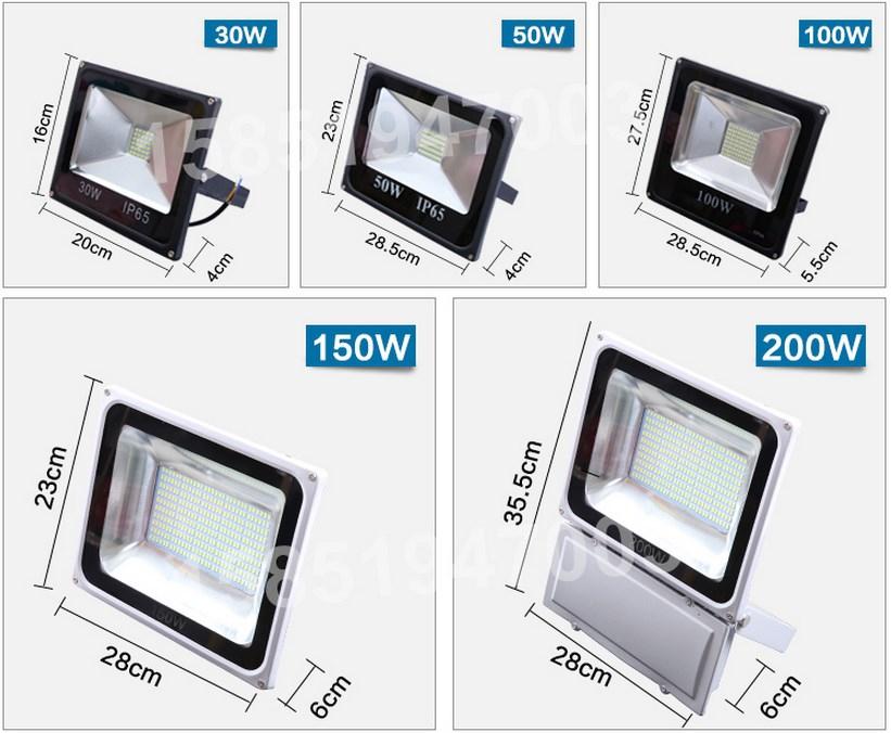 Промышленный светодиодный прожектор LED 30W-400W (115-101) - 12
