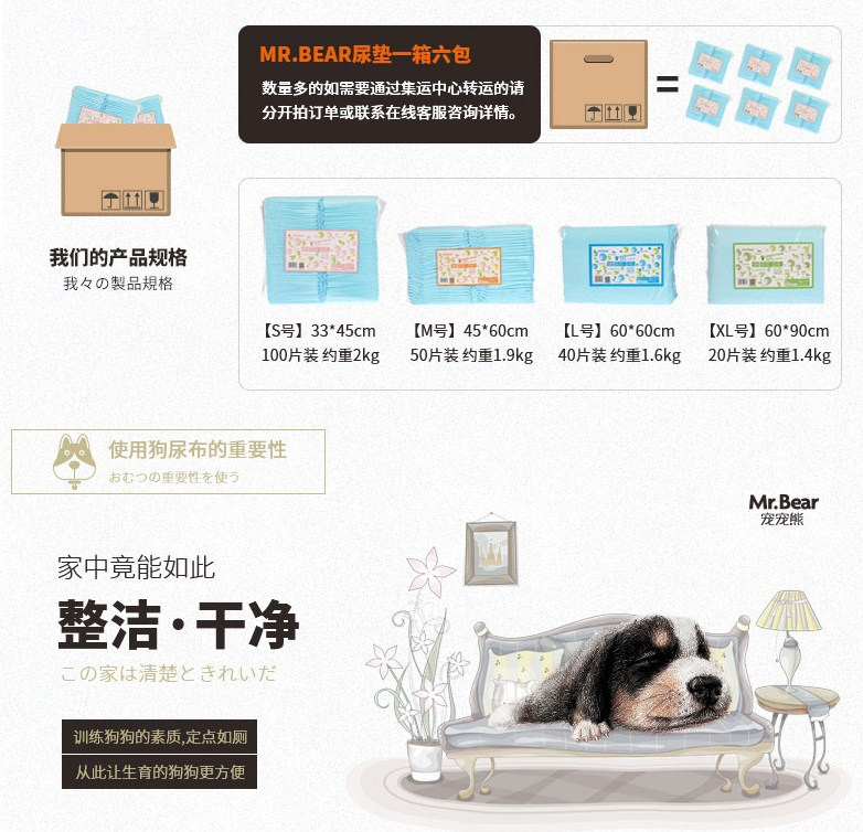 Впитывающие пеленки для собак Mr. Bear (128-102) - 10