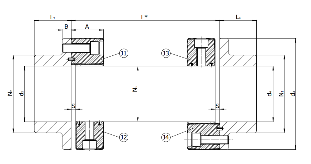 Приводной вал CENTAFLEX-A Type G / GB / GZ (118-108) - 2