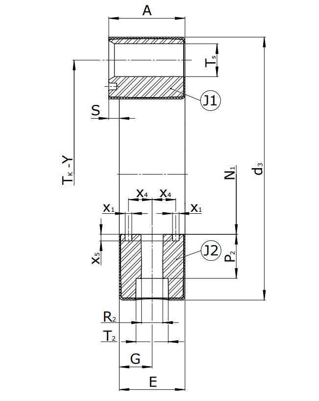 Муфты CENTAFLEX-A TYPE 0/0-S (118-104) - 5