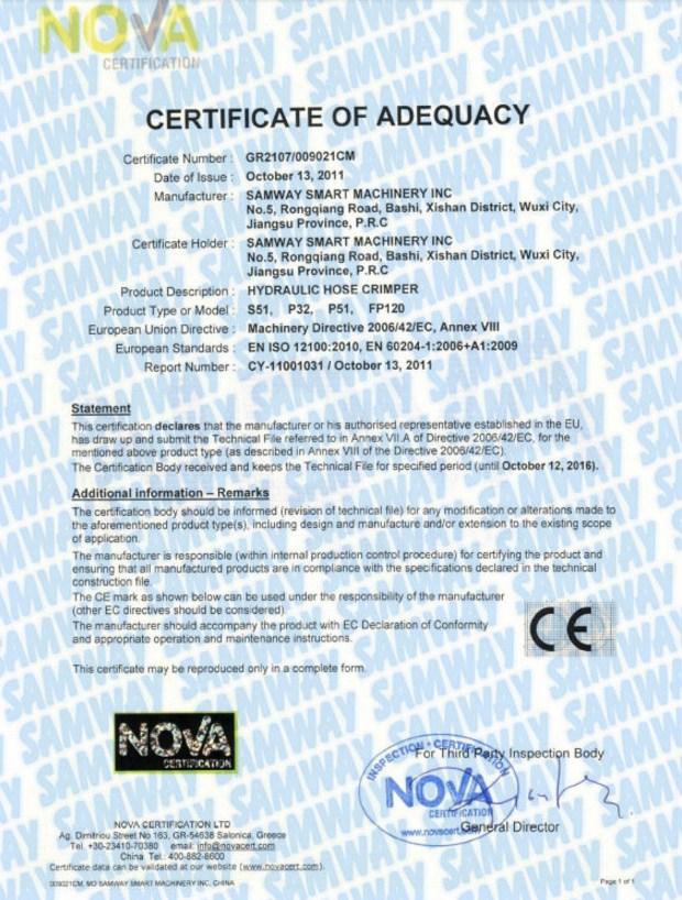 Ручной станок для обжима РВД SAMWAY P20HP (108-136) - 15