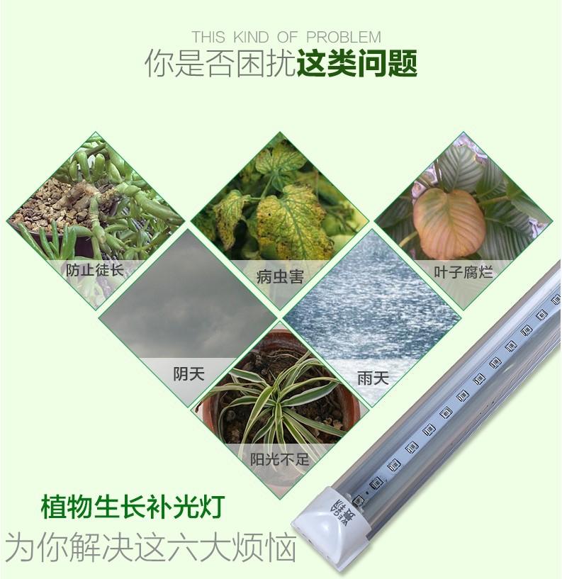 Светодиодная лампа для роста растений WEGA-WAN-T8120-T8-9W-36W (112-102) - 3
