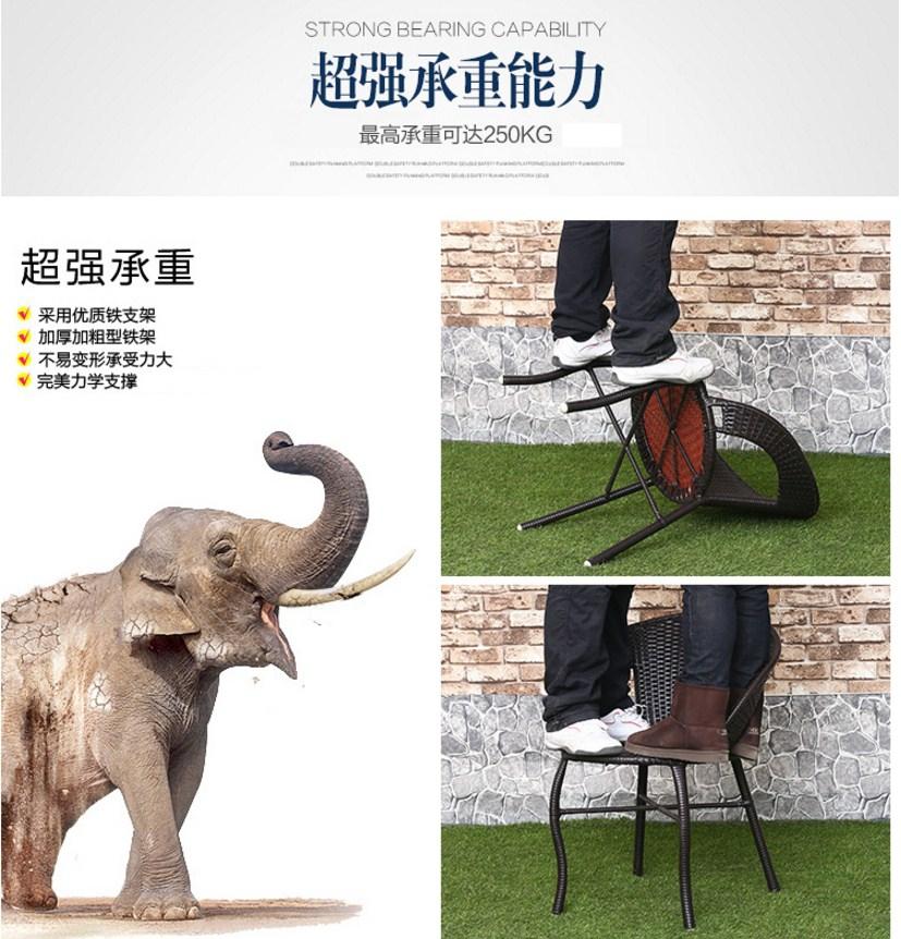 Столик и два кресла из ротанга Sunco (132-101) - 9
