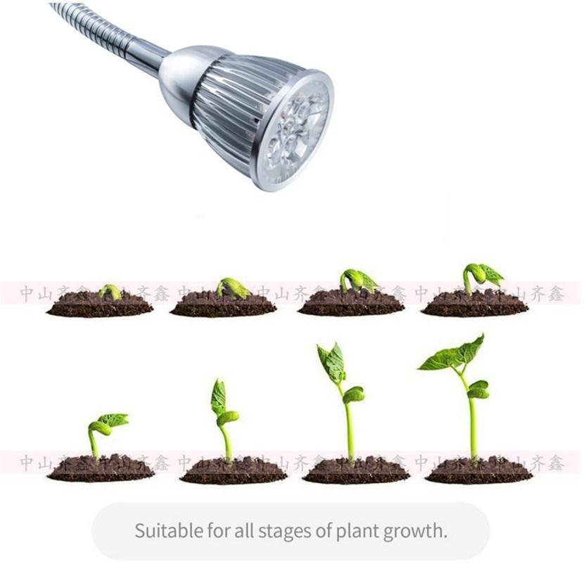 Светодиодная лампа для роста растений с зажимом Xin Qi GSR05-5W-15W (112-120) - 14