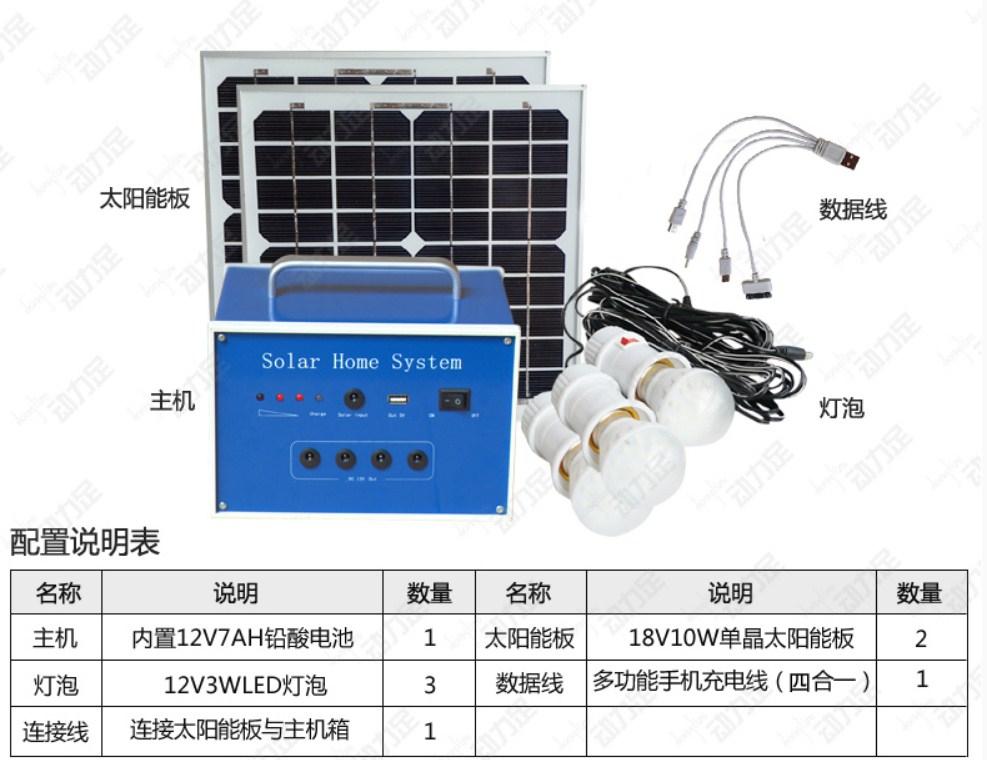 Бытовая солнечная система (полный комплект) DL-x12-20w (120-105) - 4