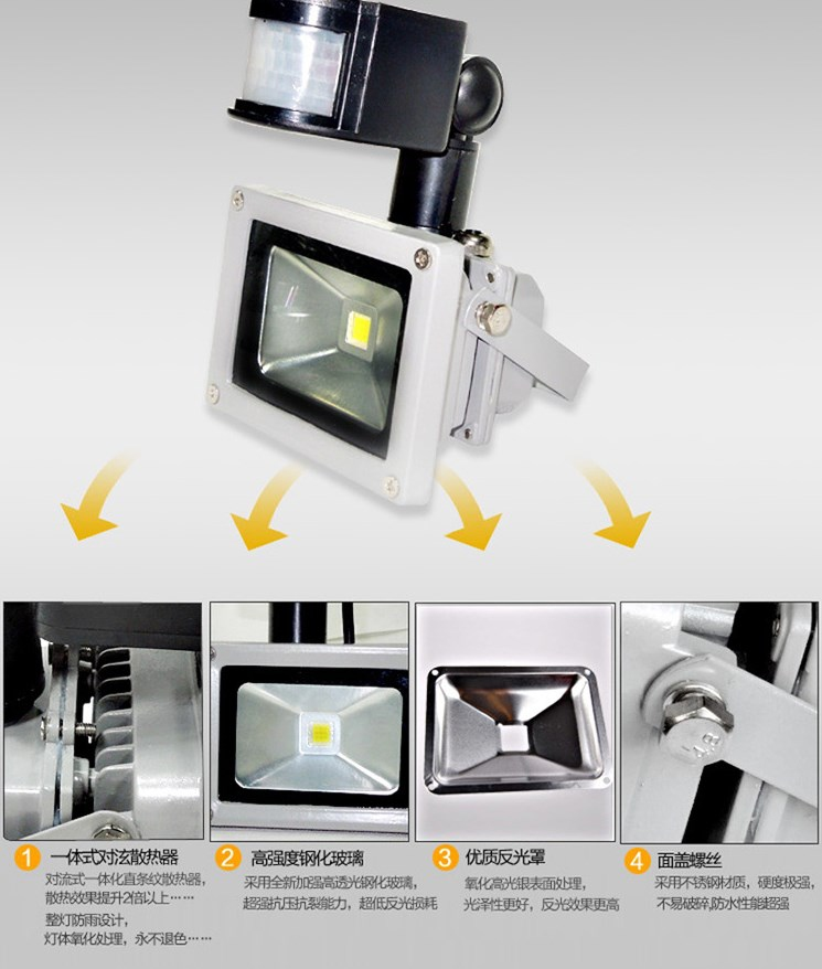 Светодиодный прожектор LED JHL-GY 10W-200W (115-102) - 4