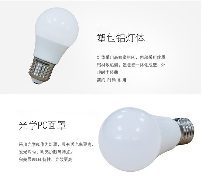 Лампа светодиодная шар LED-E27-5730 (101-214) - 1