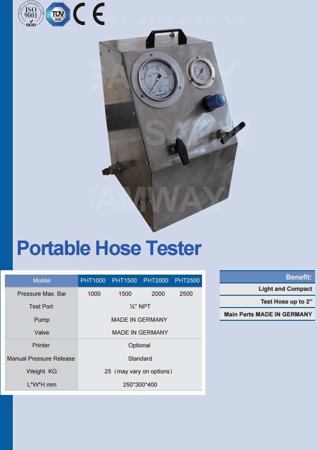 Стенд для испытания РВД - SAMWAY PHT 1500 (108-184) - 1