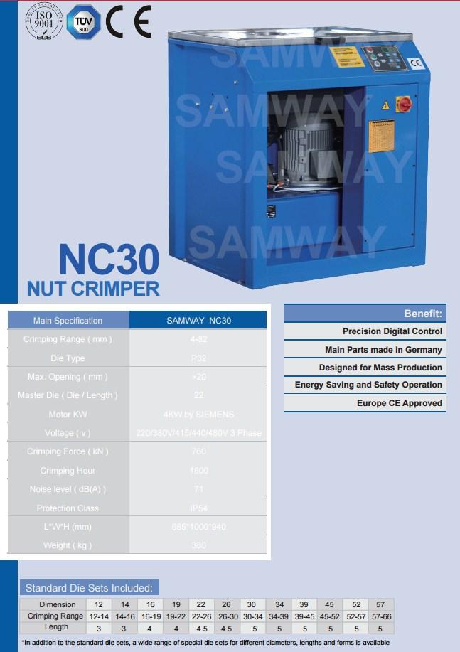 Станок для обжима гаек РВД - SAMWAY NC30 (108-180) - 2