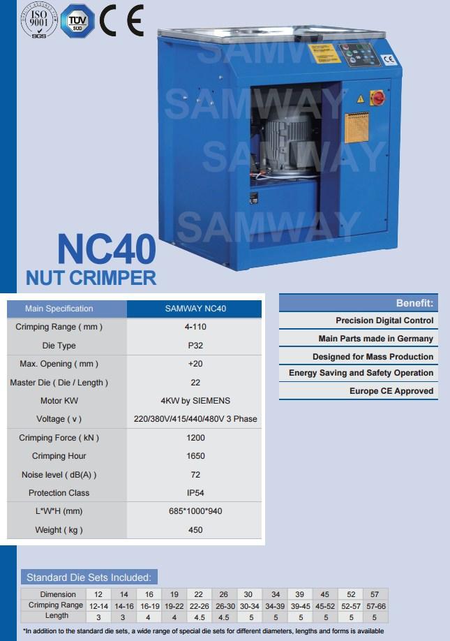 Станок для обжима гаек РВД - SAMWAY NC40 (108-179) - 2