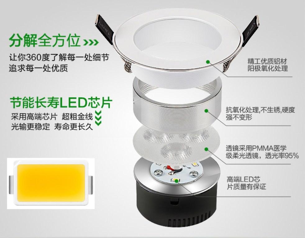 Светодиодный потолочный врезной светильник Plymouth Dili Lighting LED-PLDDS-5068-3W (101-244) - 10