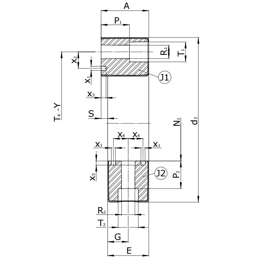 Муфты CENTAFLEX-A TYPE 0/0-S (118-104) - 3