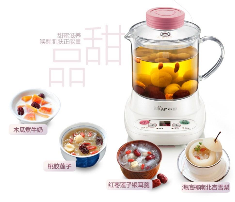 Многофункциональный электрический стеклянный чайник Bear YSH-A03U1 (119-109) - 12