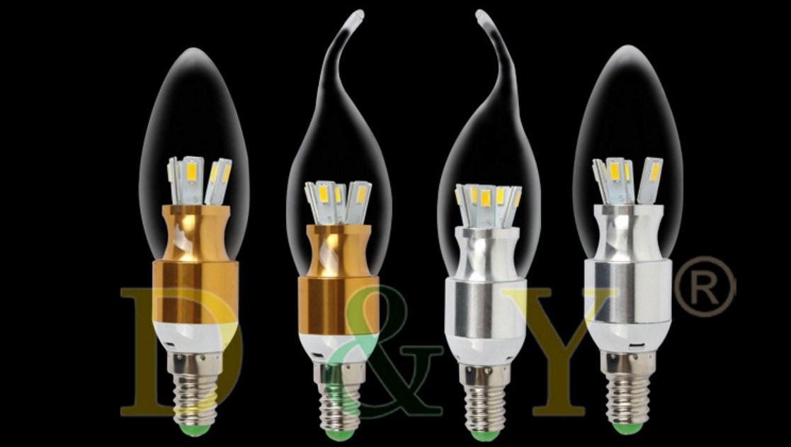 Лампа пожаробезопасная с металлическим корпусом LED-E14-3W-2835 (101-217) - 14