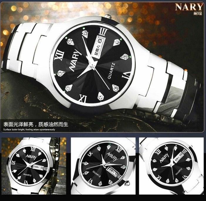 Водонепроницаемые мужские и женские кварцевые часы NARY 6020 (123-107) - 14
