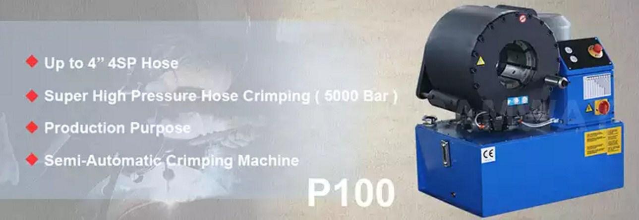 Индустриальный обжимной станок РВД - SAMWAY P100 (108-176) - 1