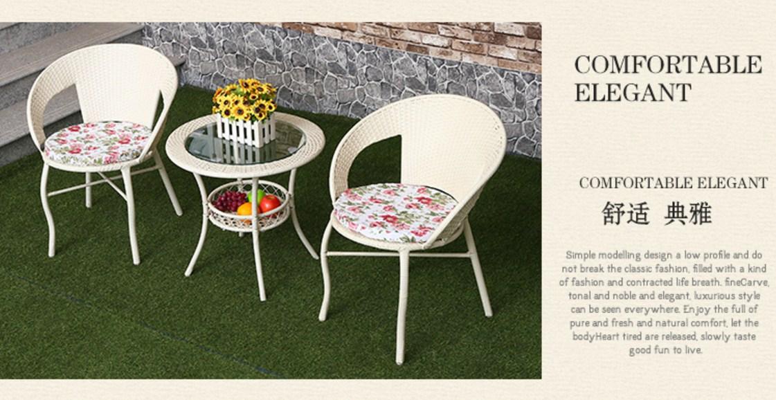 Столик и два кресла из ротанга Sunco (132-101) - 5