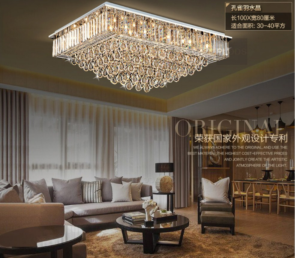 Люстра Plymouth Dili Lighting - Crystal Peacock feather LED-9083 (101-229) - 1