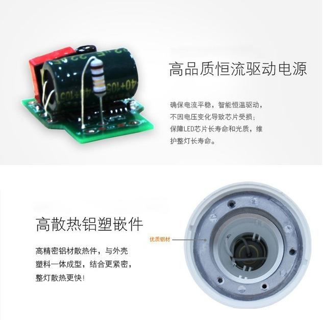Лампа светодиодная шар LED-E27-5730 (101-214) - 3