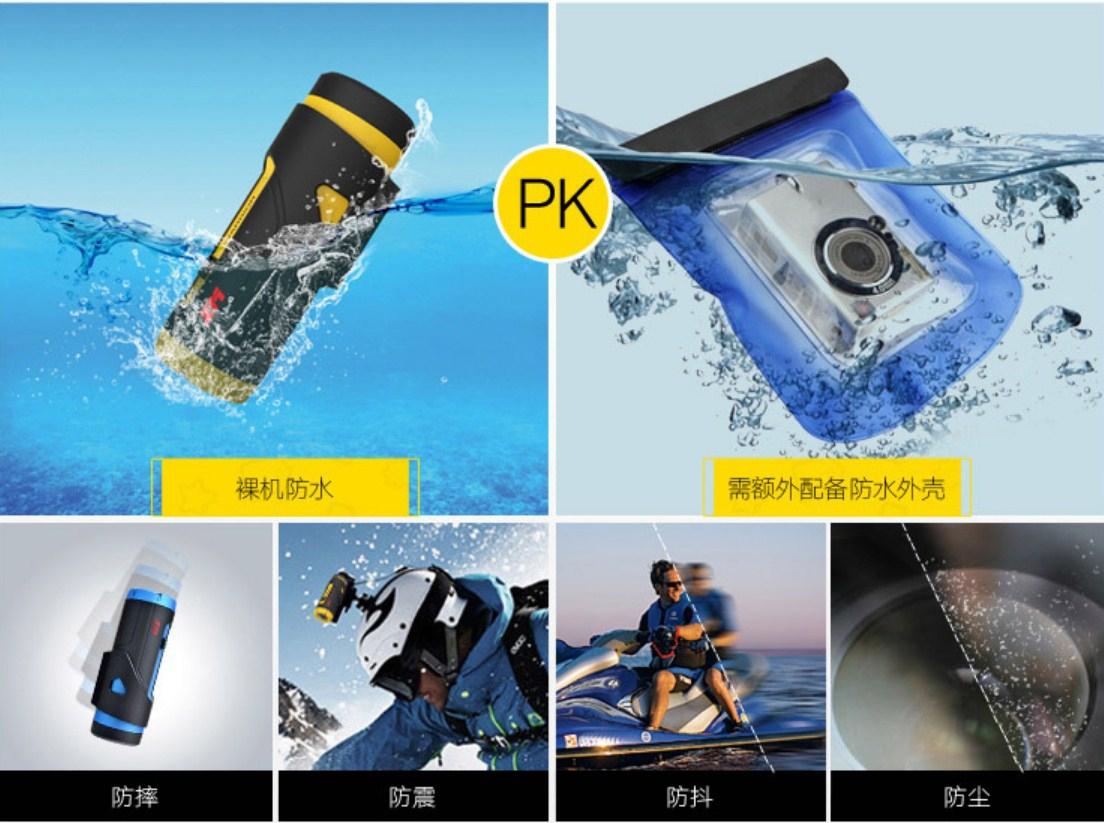 Универсальный водонепроницаемый видеорегистратор XM Warrior WiFi (126-100) - 13