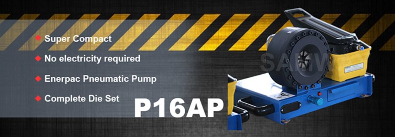 Ручной станок для обжима воздухом РВД SAMWAY P16AP (108-143) - 2