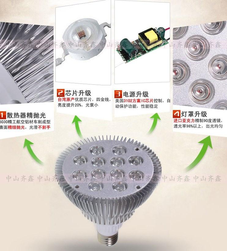 Светодиодная лампа для роста растений LED Qi Xin QX-PTXXA-12W-36W (112-113) - 7
