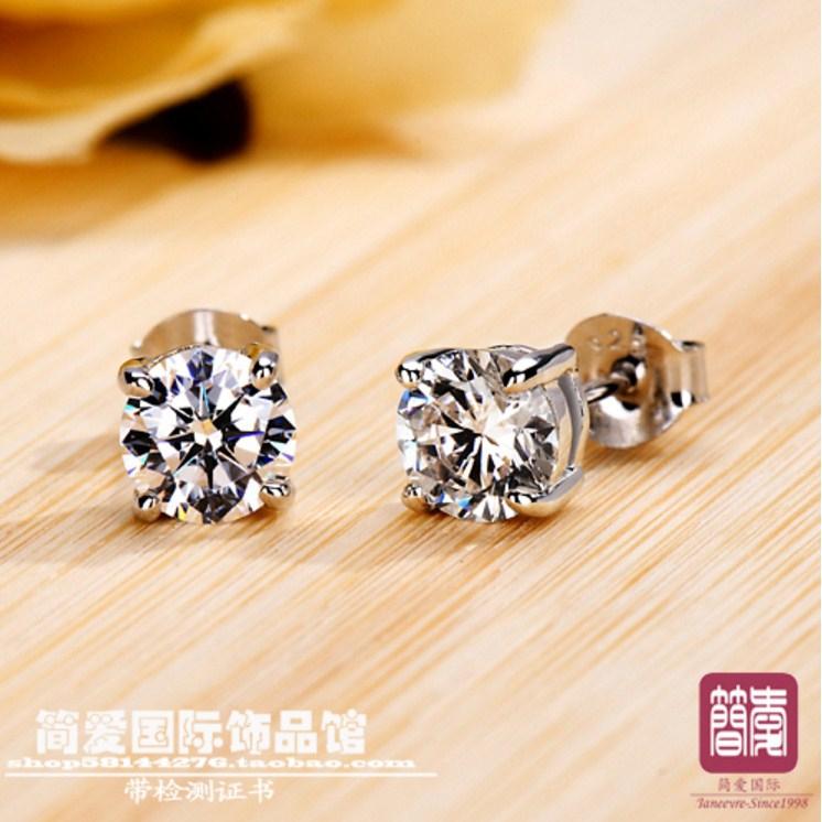 Серьги с искусственными бриллиантами NSCD (124-100) - 3