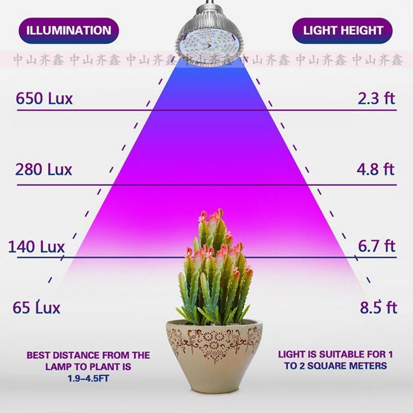 Светодиодная лампа для роста растений с зажимом Xin Qi GSR05-5W-15W (112-120) - 6