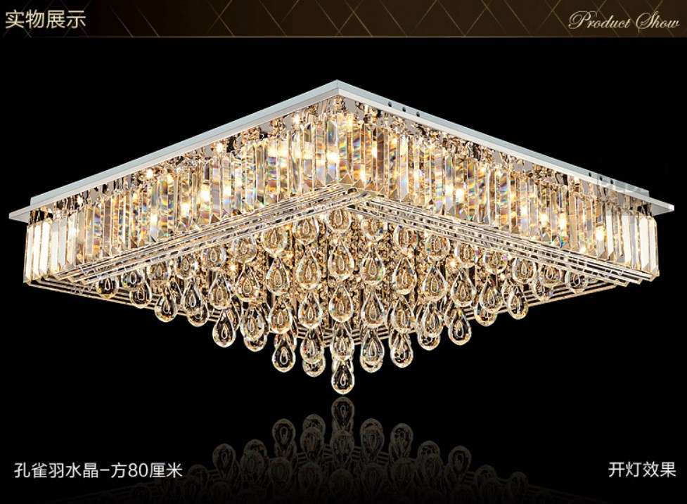 Люстра Plymouth Dili Lighting - Crystal Peacock feather LED-9083 (101-229) - 6