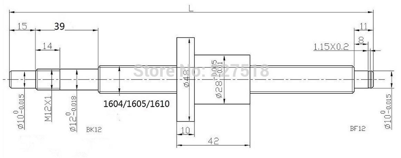 Комплектующие для ЧПУ станка SFU1605 (110-100) - 6