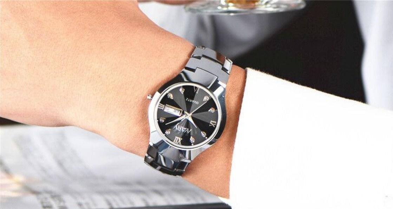 Водонепроницаемые мужские и женские кварцевые часы NARY 6020 (123-107) - 4