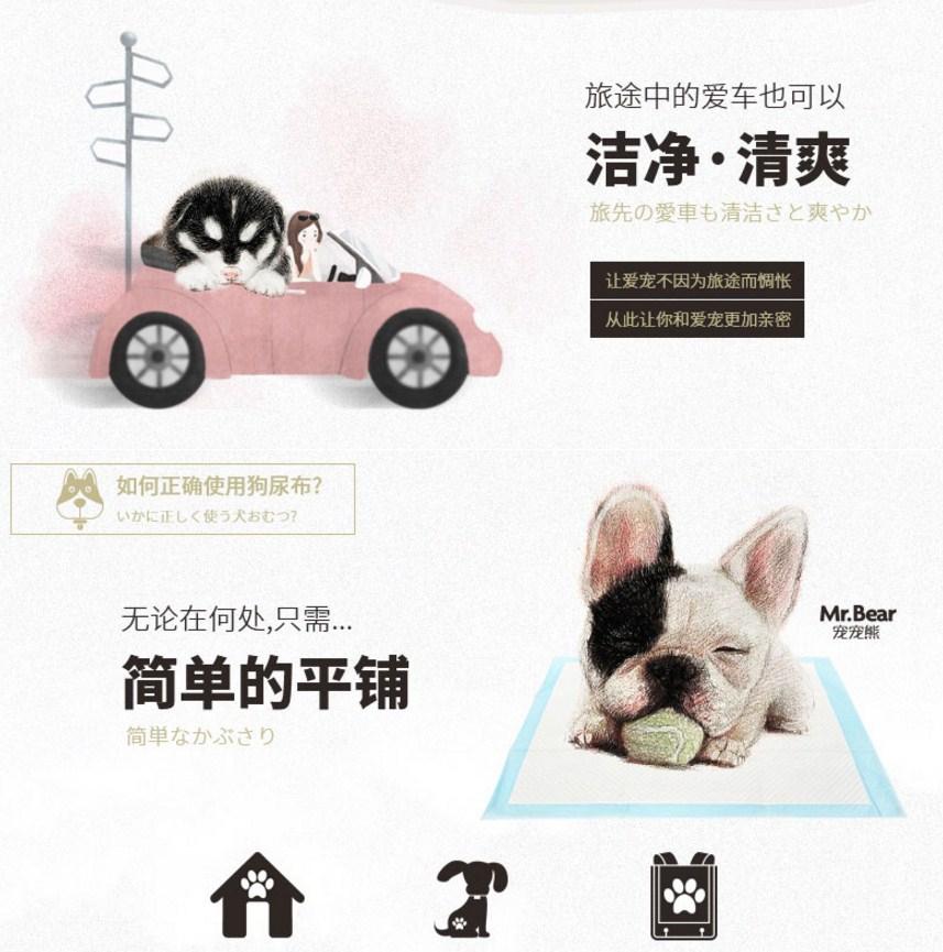 Впитывающие пеленки для собак Mr. Bear (128-102) - 11