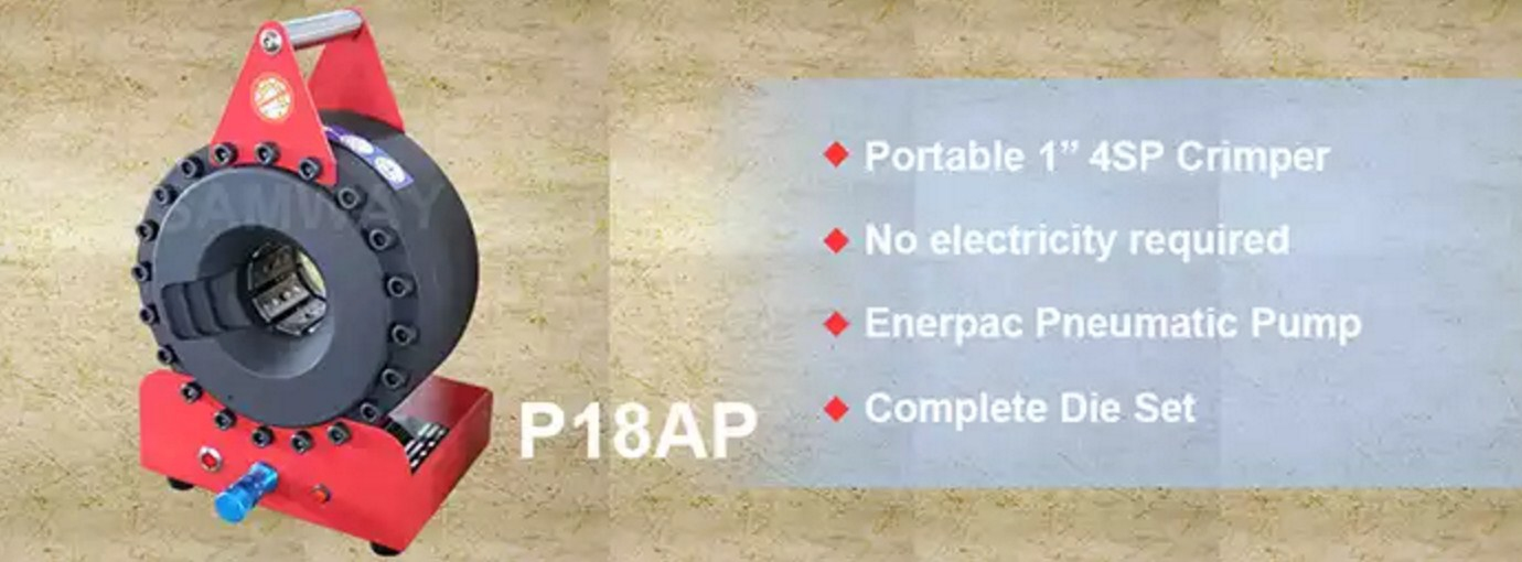 Портативный обжимной станок РВД - SAMWAY P18AP (108-159) - 2