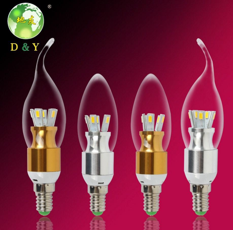 Лампа пожаробезопасная с металлическим корпусом LED-E14-3W-2835 (101-217) - 1