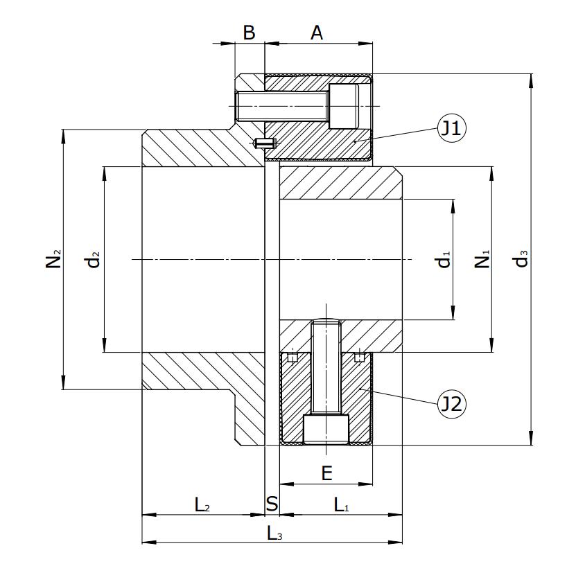 Муфты CENTAFLEX-A TYPE 2 /2–S (118-106) - 1