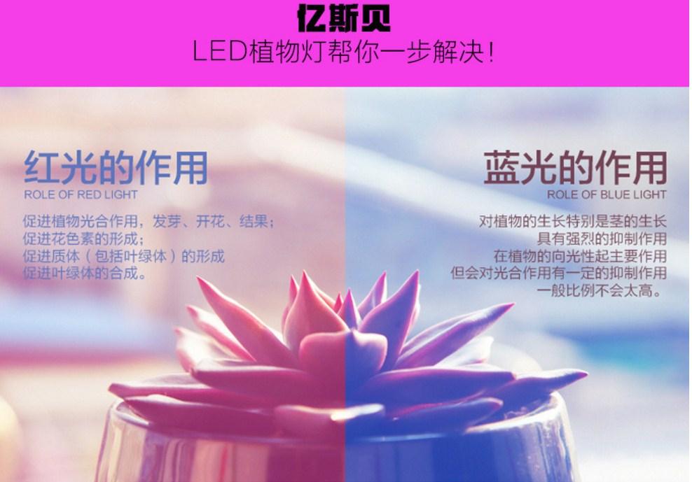 Светодиодная лампа для роста растений Billion Si Bei ZW0112-00-0 на 180-200 Вт (112-118) - 12
