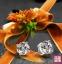 Серьги с искусственными бриллиантами NSCD (124-100) - 1