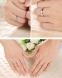 Серебряные S925 парные кольца для мужчины и женщины (124-110) - 11